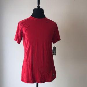 NEW Nike Pro Combat Dri-Fit T-Shirt Red Mens Sz L